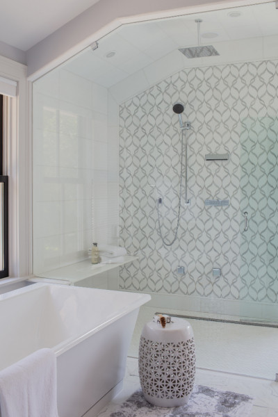 Greater Boston Ma Shower Design Glass Wall Tile