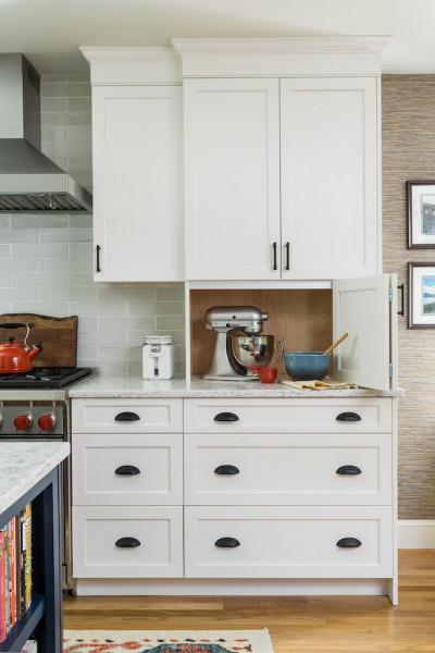 Kitchen Counter Design Appliance Storage